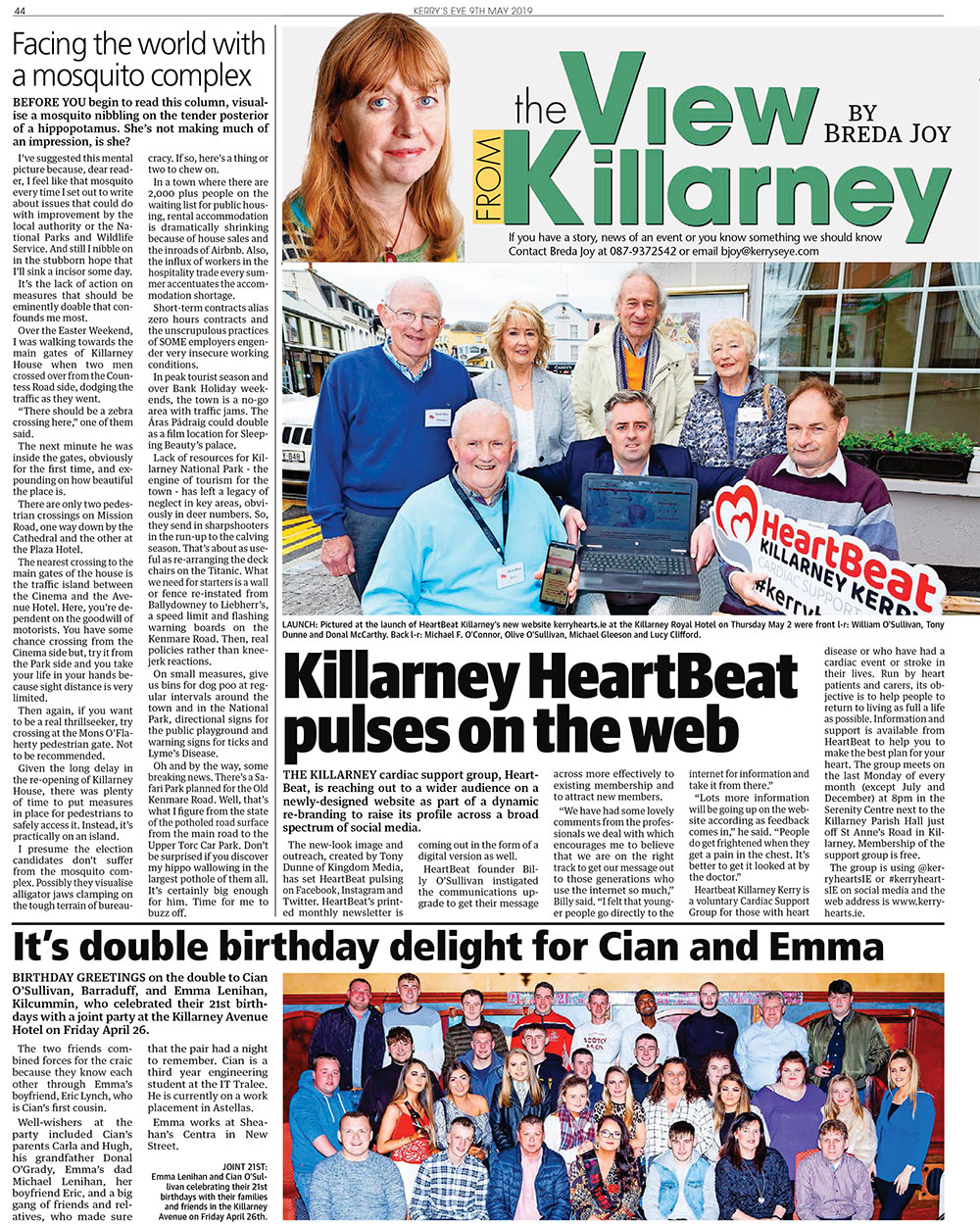 Article in the Kerry's Eye Newspaper 9-5-19