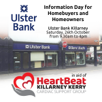 Ulster Bank Killarney Hosts Information Day for Homebuyers and Homeowners in aid of Killarney Heartbeat