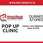 Heart Health Pop Up Clinic on Valentines Day in partnership with Dunnes Stores Killarney